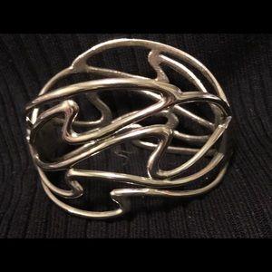 Silver full cuff bracelet